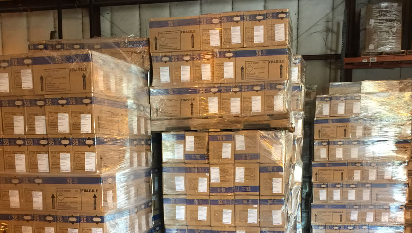 inside our warehouse storage facility